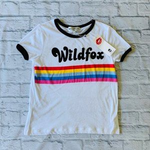 Wildfox Striped Johnny Ringer Tee Size XS